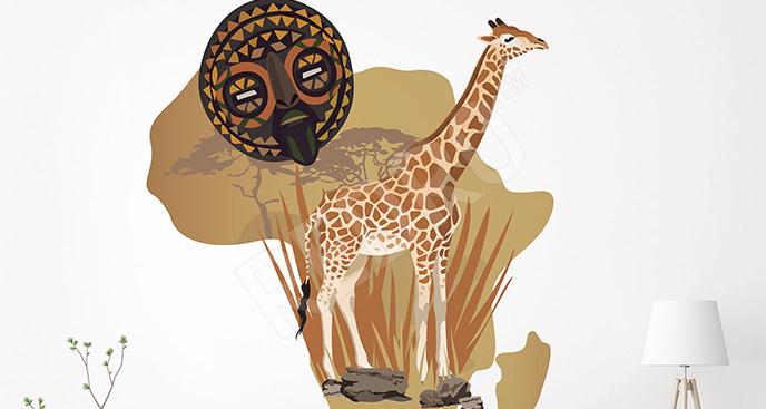 Naklejka w stylu afrykańskim