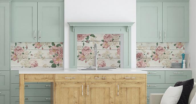 Naklejka w stylu rustykalnym: róże