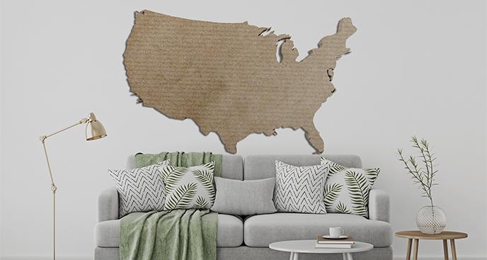 Naklejka w stylu vintage z mapą