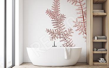 Naklejka wodorosty do łazienki