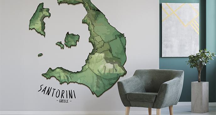 Naklejka wyspa Santorini