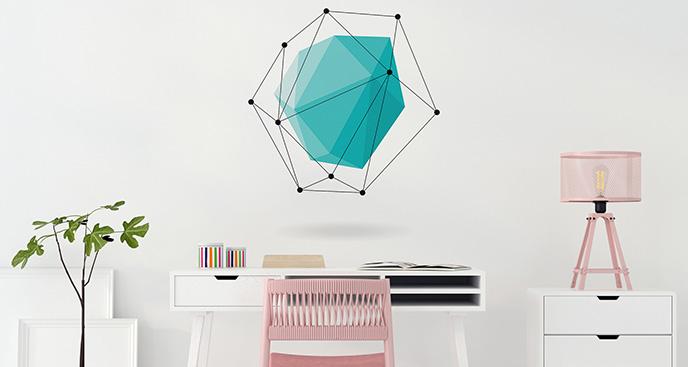 Naklejka wzór geometryczny do biura