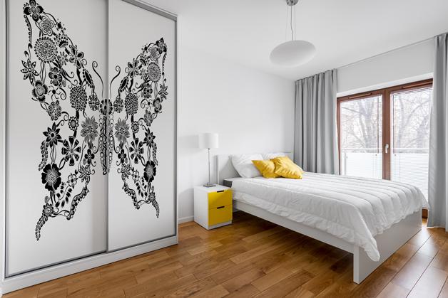 Naklejka - Wzór motyla