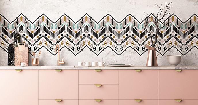Naklejka z afrykańskim wzorem