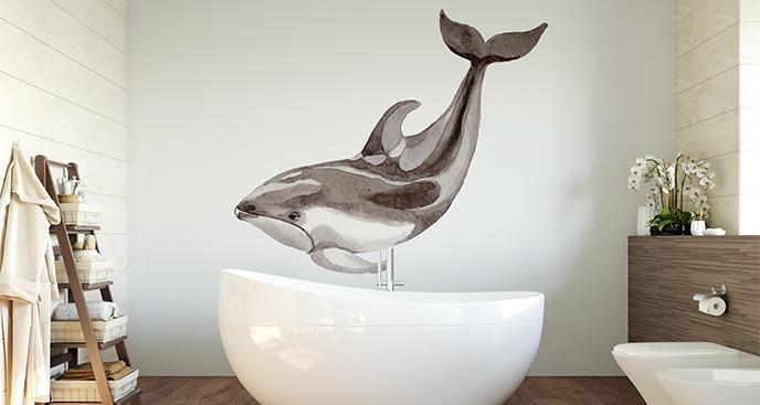 Naklejka z delfinem do łazienki