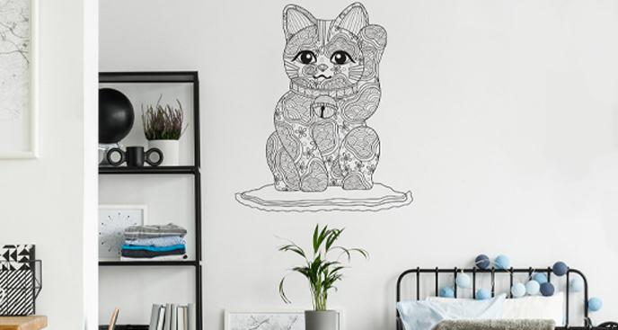 Naklejka z ilustracją kota