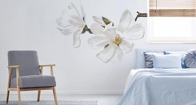 Naklejka z motywem floralnym