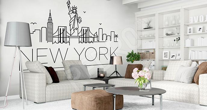 Naklejka z motywem Nowego Jorku