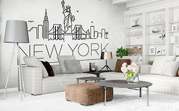 Naklejka z napisami Nowy Jork