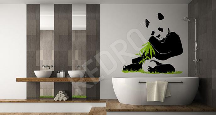 Naklejka z pandą do łazienki
