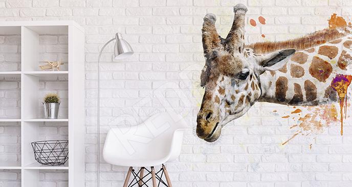 Naklejka z podobizną żyrafy