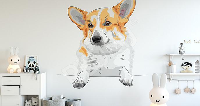 Naklejka z psem dla dzieci