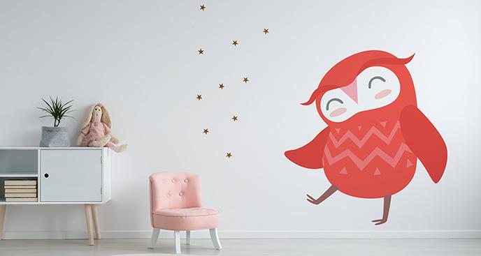 Naklejka z ptakiem dla dzieci
