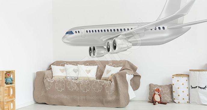 Naklejka z samolotem pasażerskim