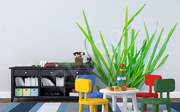 Naklejka z trawą do pokoju dziecka