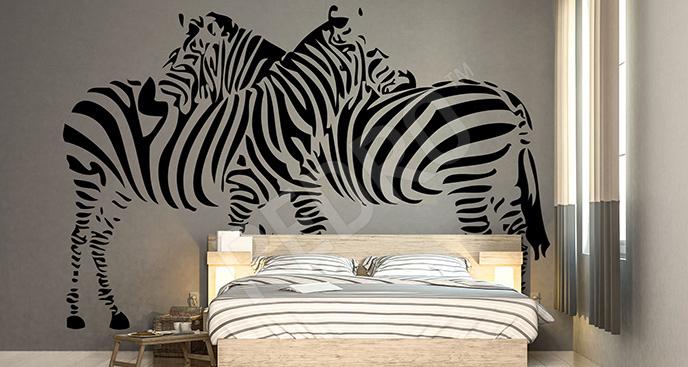 Naklejka zebry do sypialni