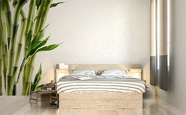 Naklejka zielony bambus do sypialni