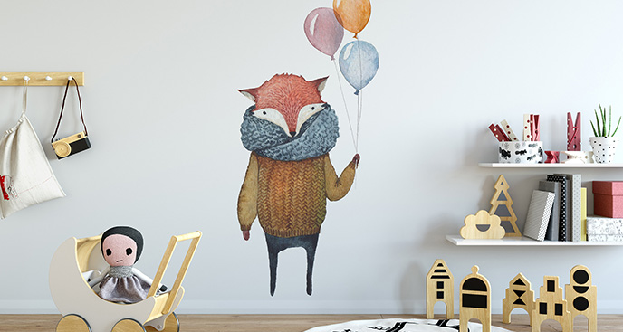 Naklejka zwierzę z balonami