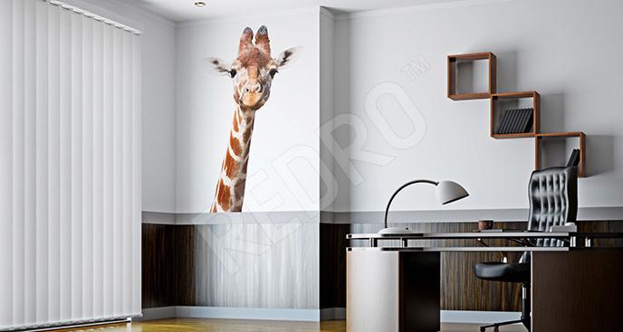 Naklejka żyrafa 3D do biura