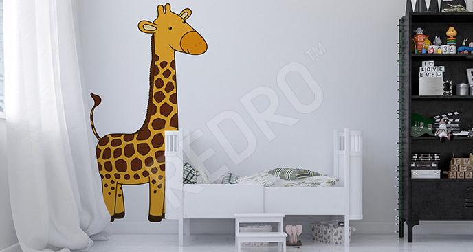Naklejka żyrafa w pokoju dziecka