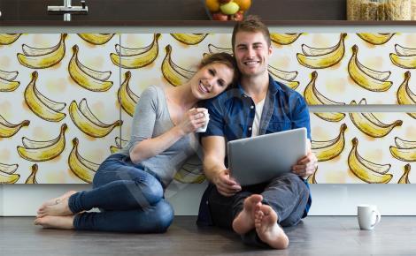 Naklejki na szafy z bananami