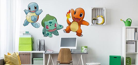 Tapety i naklejki Pokemon - inspiracje wnętrz z Pokemon Go
