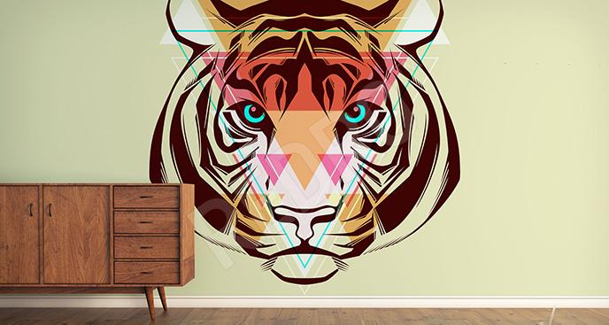 Nowoczesna fototapeta tygrys
