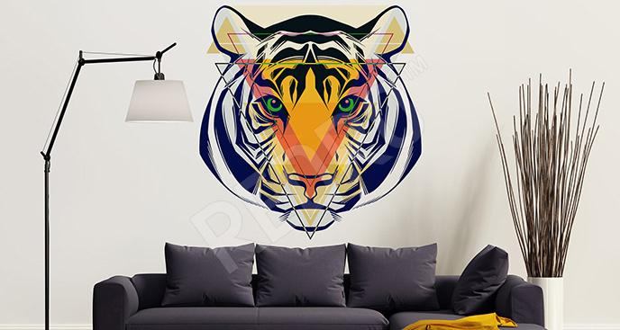 Nowoczesna naklejka z tygrysem