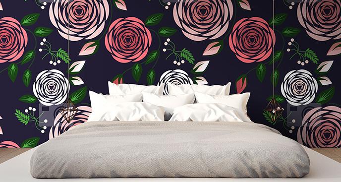 Nowoczesna tapeta w róże