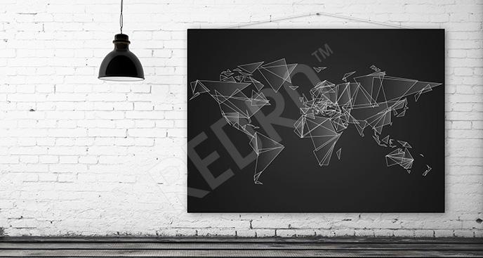 Nowoczesny obraz z mapą świata