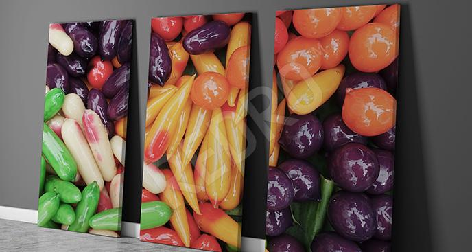 Nowoczesny obraz z warzywami
