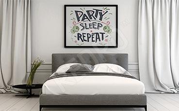 Nowoczesny plakat do sypialni