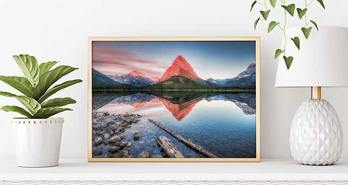 Nowoczesny plakat góry