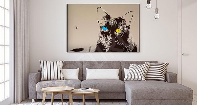 Nowoczesny plakat z kotem