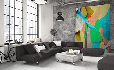 Obraz 3D kolorowa abstrakcja