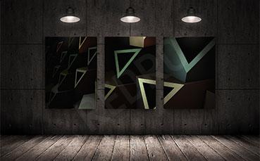 Obraz 3D trójkąty