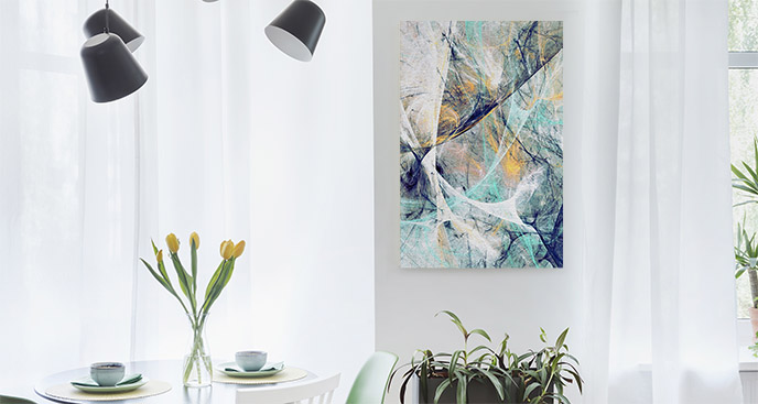 Obraz abstrakcja i błękit
