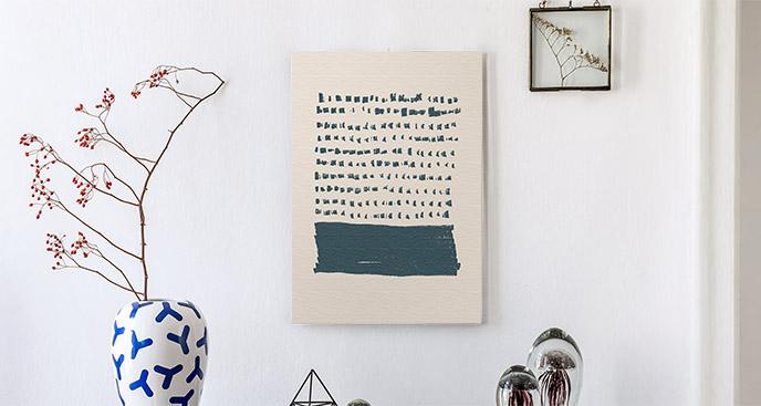 Obraz abstrakcja i napis