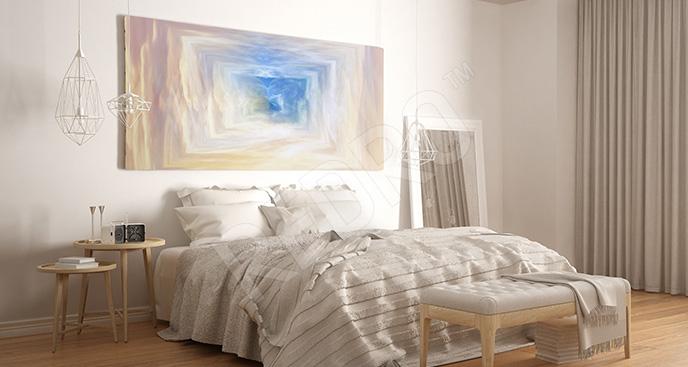 Obraz abstrakcyjny tunel do sypialni