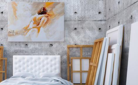 Obraz malarstwo akt do sypialni