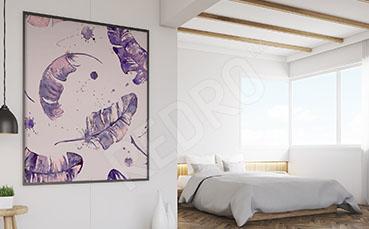 Obraz akwarela do sypialni