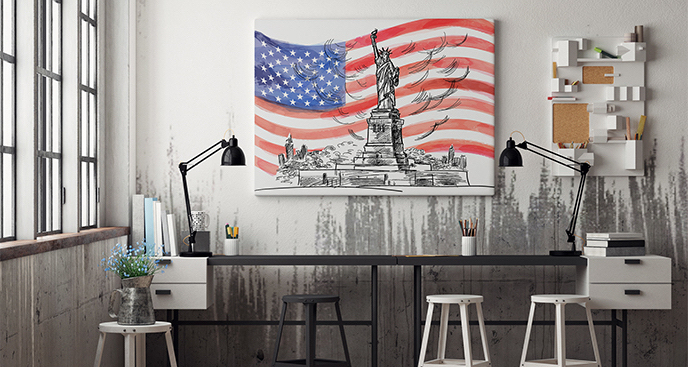 Obraz amerykańska flaga