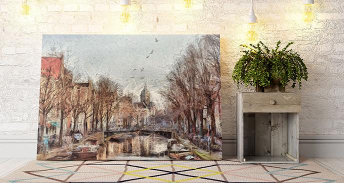 Obraz Amsterdam jesienią