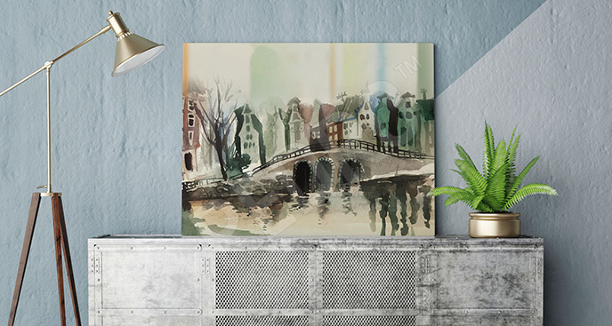 Obraz Amsterdam malarstwo