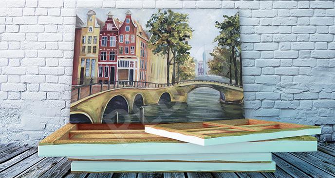 Obraz Amsterdam na krajobrazie