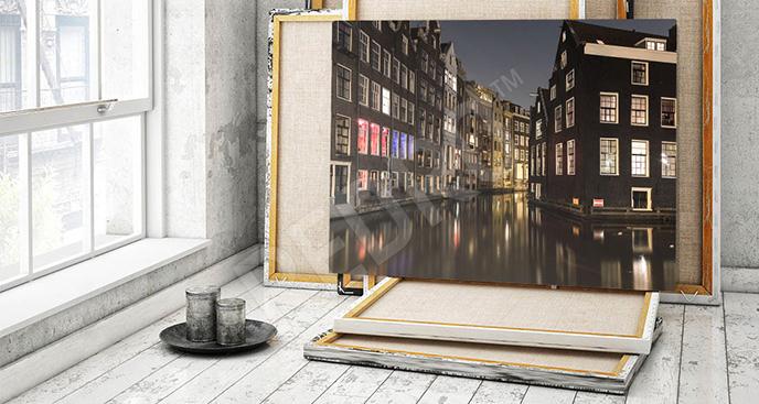 Obraz Amsterdam nocą