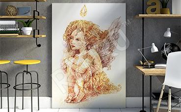 Obraz anioł - styl fantasy