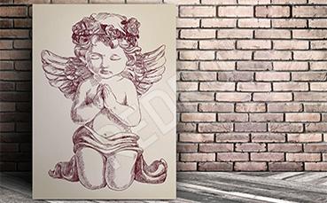 Obraz anioł vintage dla dzieci