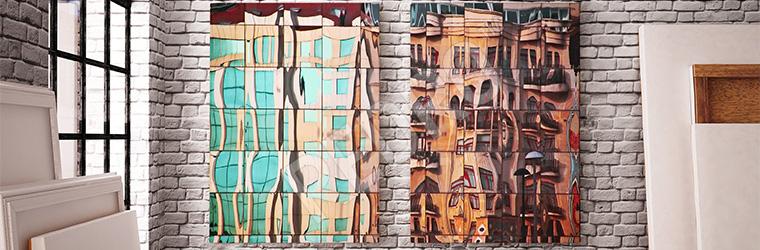 Obraz architektoniczna abstrakcja