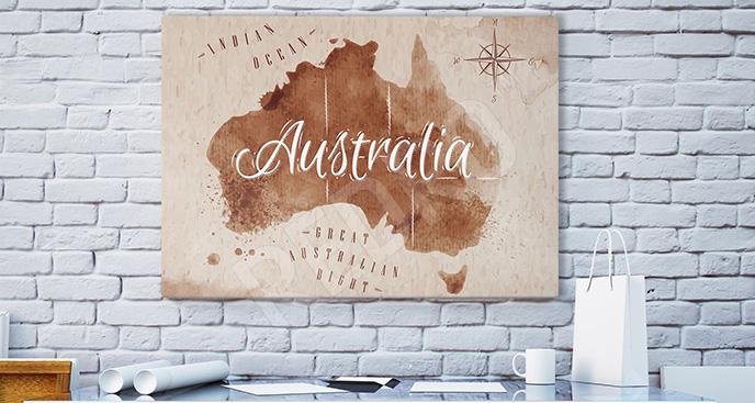 Obraz Australia na mapie